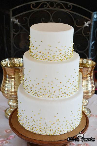 Gold Bubble Wedding Cake