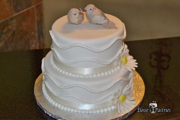 Love Bird Wedding Cake