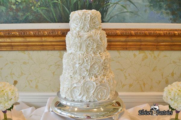 Rose Textured Wedding Cake