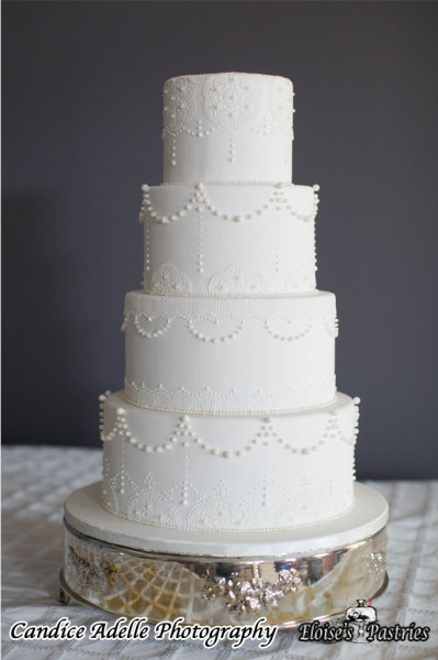 Classic and Elegant with Lace Detail Cake