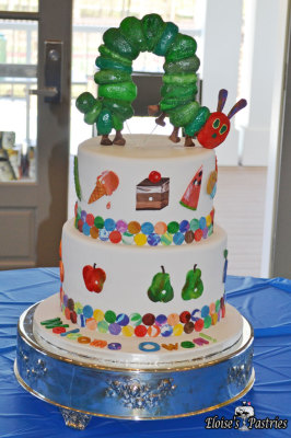 Hungry Caterpillar Baby Shower Cake