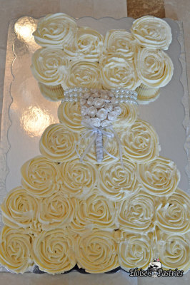 Bridal Shower Cupcake Dress Cake