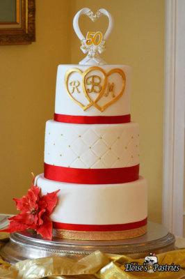 Poisenetta Golden Anniversary Cake
