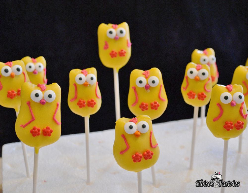 owl cake pops, party cake pops, adorable cake pops