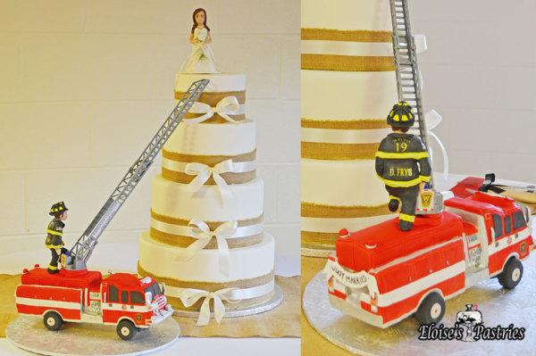 Firetruck Wedding Cake