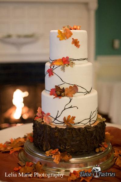 Nature Inspired Fall Wedding Cake