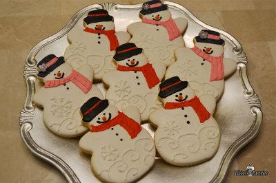 Snowmen and Women Cookies