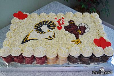 VCU_VTech Cupcake Cake