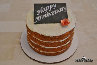 """""""Naked"""" Anniversary Cake"""
