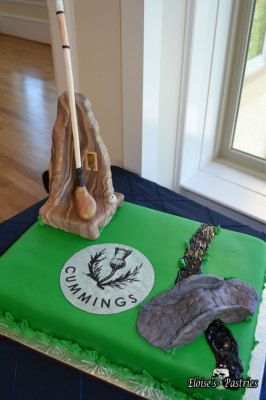 Traditional Scottish Golf Groom's Cake