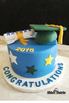 Classic Graduation Cake