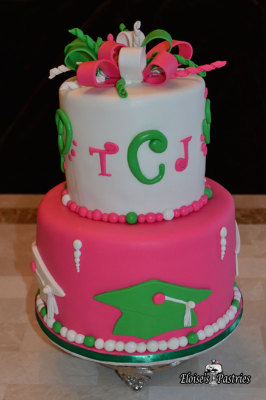 Fun and Feminine Graduation Cake