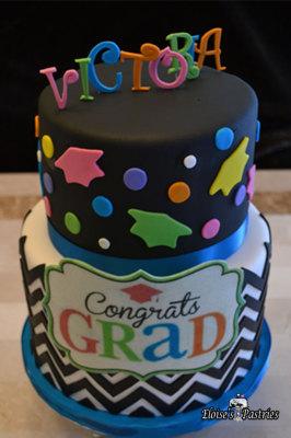 Festive Graduation Cake