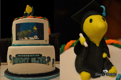 Woodstock Inspired Graduation Cake
