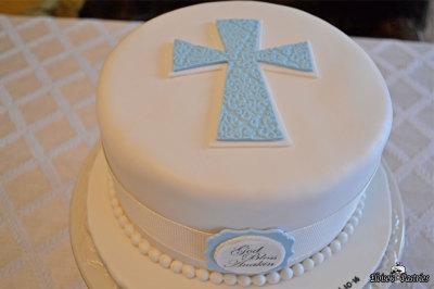 baptism cake, blue baptism cake, baptism cake for boy