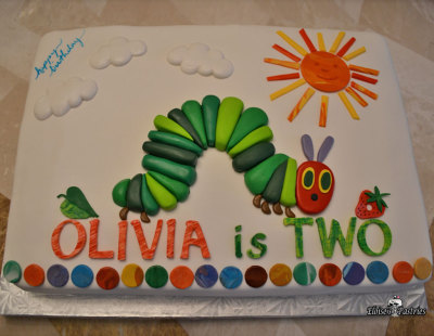 birthday cake, hungry caterpillar birthday cake, hungry caterpillar sheet cake, hungry caterpillar birthday sheet cake
