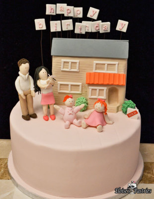 housewarming birthday cake, family birthday cake,
