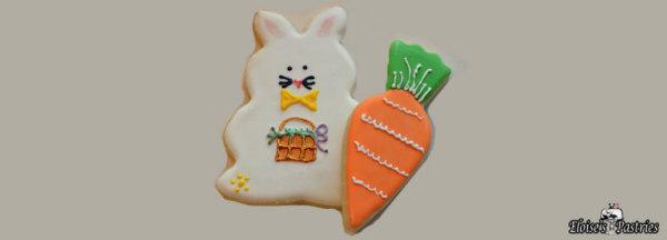 hand decorated cookies, easter cookies, bunny cookies