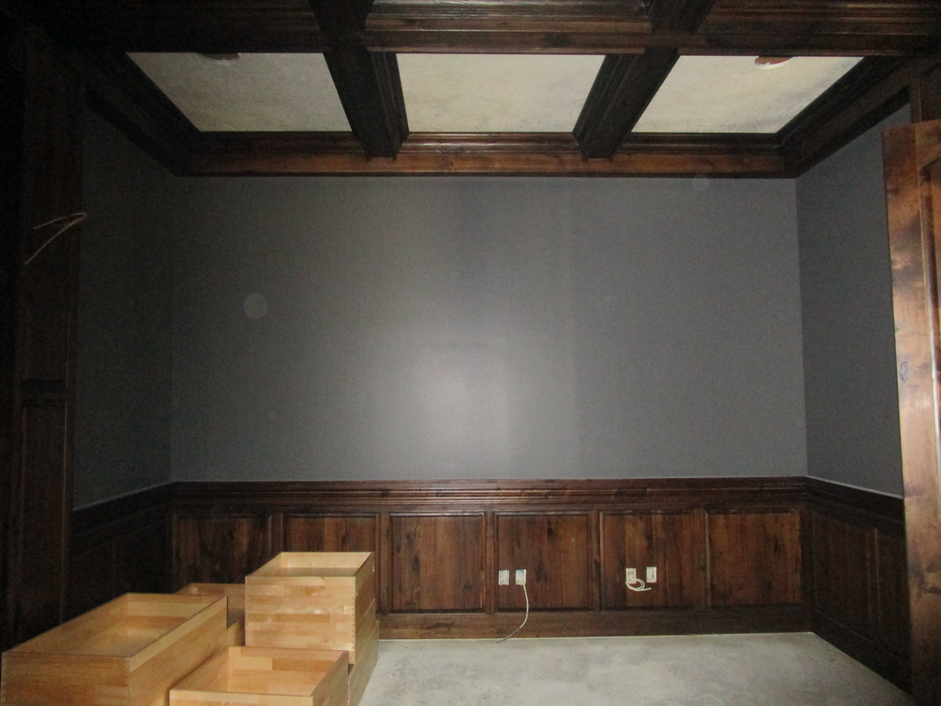 Coffered Ceiling and Raised Panel