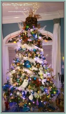 Copper / Blue / White Tree