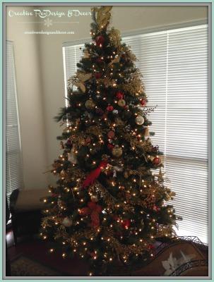 Red / Gold / Cream Tree