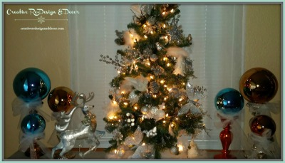 Silver / Gold / Blue Tree