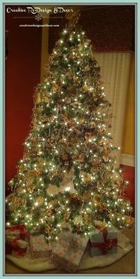 Gold and Marsala Tree