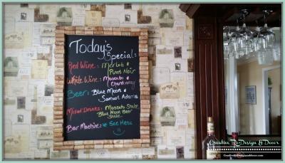 Bar Room - Custom Menu