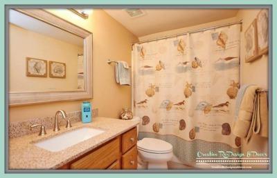 AFTER - Bath w/Granite & New Sink