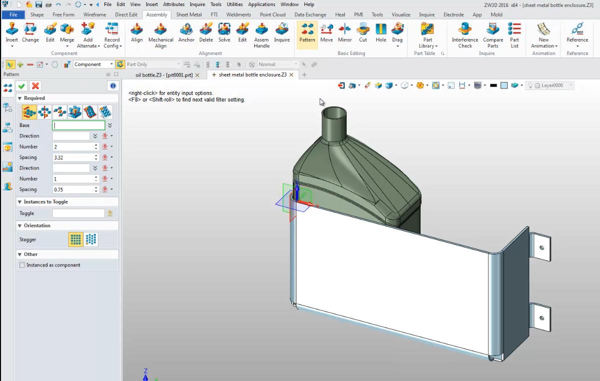 Sheet metal enclosures with ZW3D
