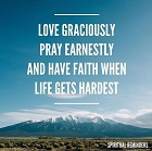Love, Prayer, and Faith