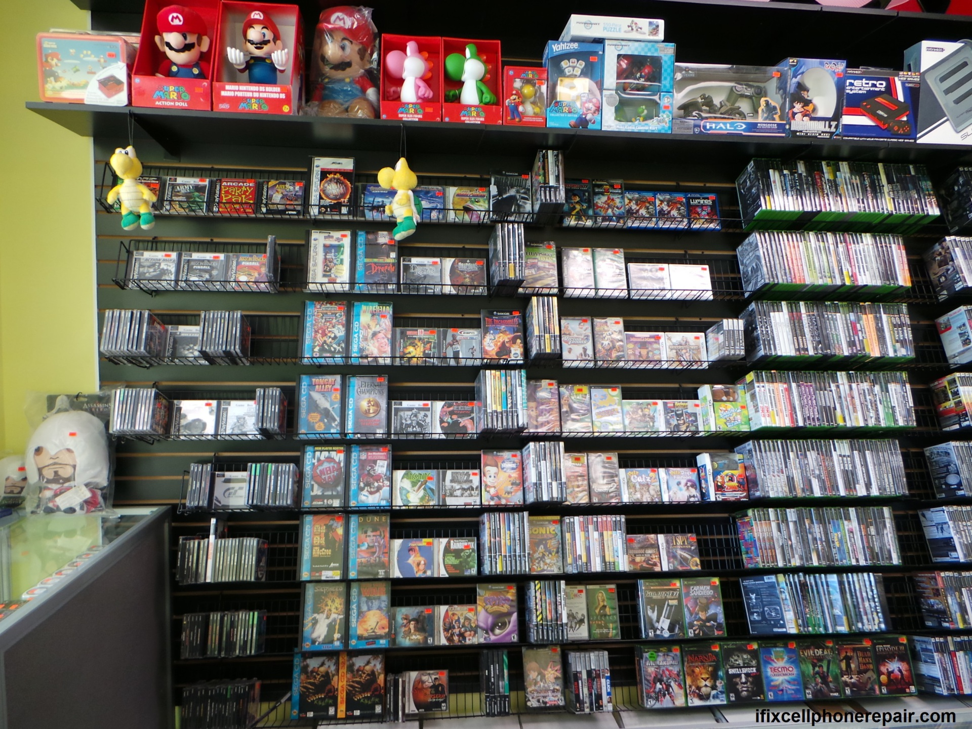 game box,mario plush,mario remote car,halo remote car,game console bags,game gun,ifix,cell phone repair,ipad repair,game console repair,scratch cds
