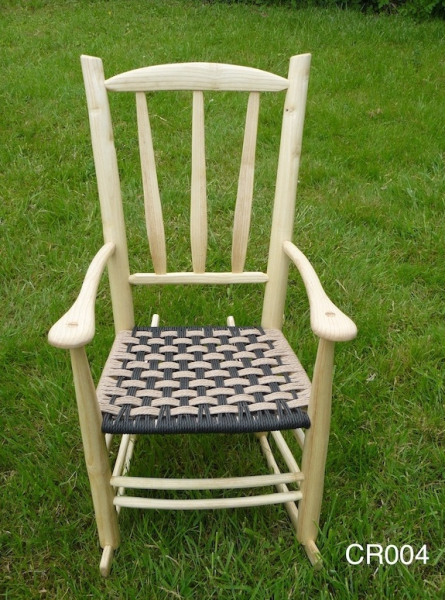 rustic ash chair lath back wood rocking chair with black danish weave seat