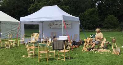 rustic ash chairs exhibits at craft in focus, Henley Meadows 2016