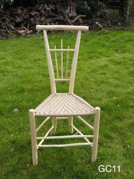 rustic ash chairs spindle gentlemans unique design triangular chair, grass background