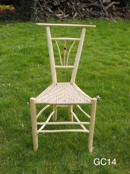gentleman's ash wood triangular chair