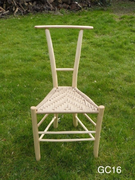 rustic ash chairs gentlemans chair, unique design triangular wooden chair on grass