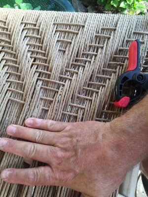 rustic ash chairs danish cord seating irish twill pattern