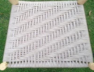 danish cord diagonal twill pattern used on rustic ash chair