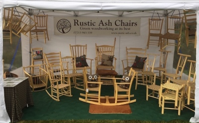 the rustic ash chairs display at surrey hills wood fair 2016
