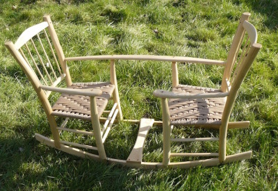 bodgers ball 2016 mark griffin award winning twin rocking chair wooden seesaw