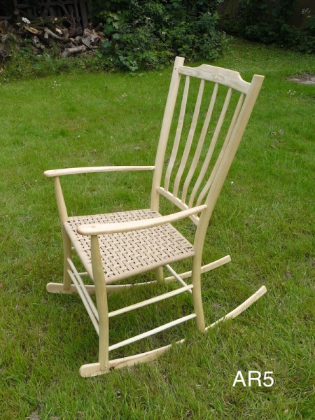 ash rocking chair with lath back