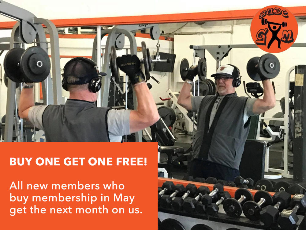 Bude Gym offer on for new members who sign up in May.