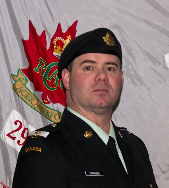 Officer Cadet Jason Carriere