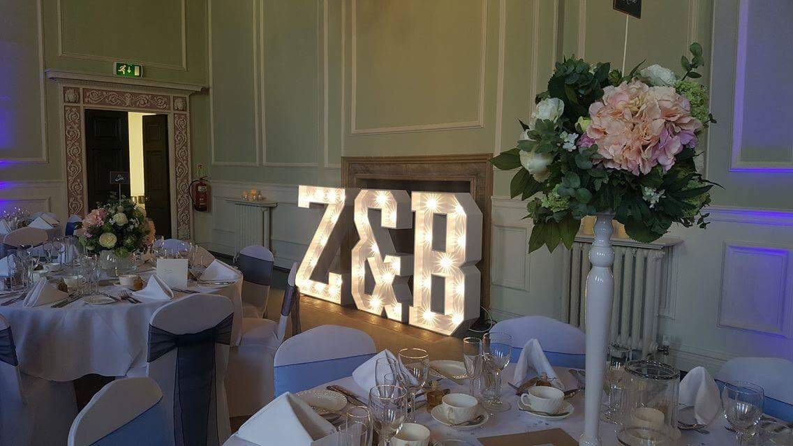 4ft Illuminated initials