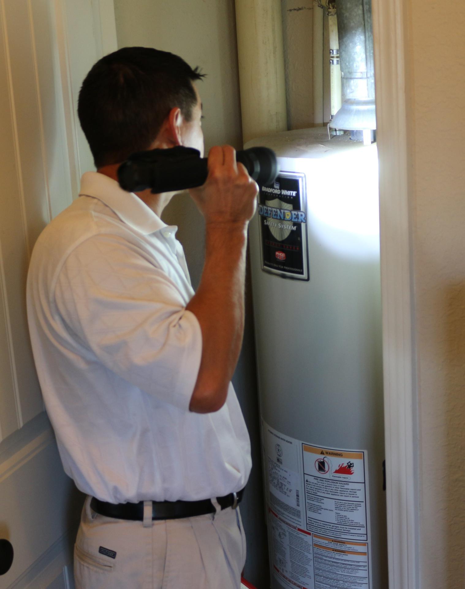 Water Heater / Checking Draft Diverter