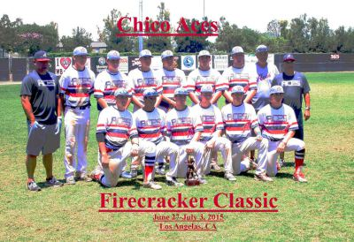 Chico Aces 16U finishing runner-up in the 2015 Fire Cracker Classic in So Cal.