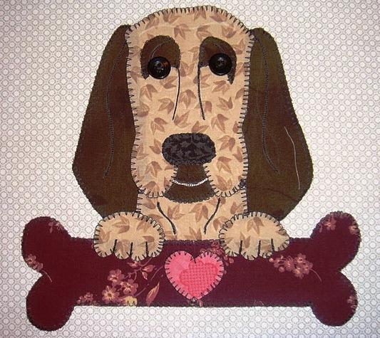 24 - Bloodhound with bone