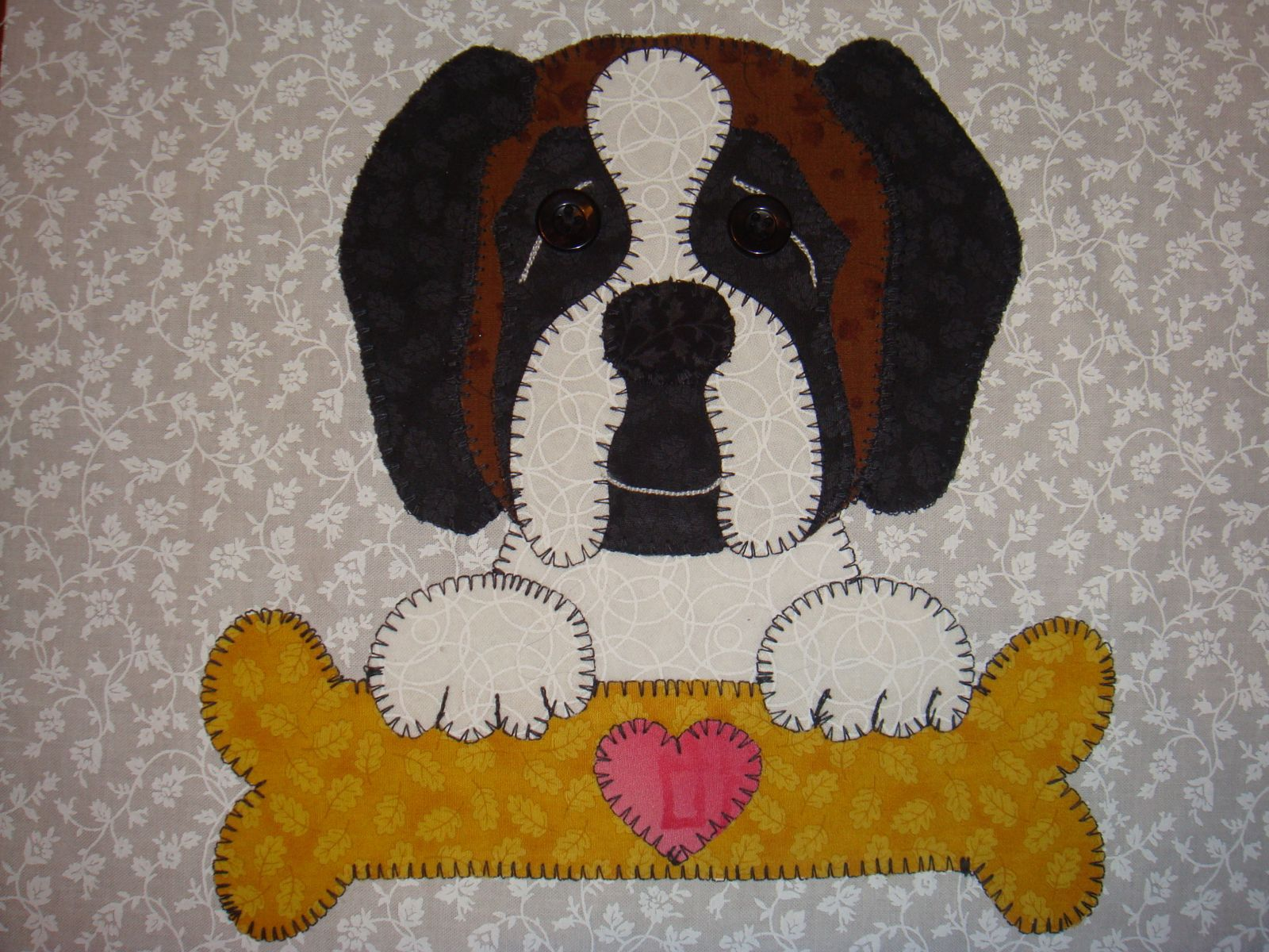 29 - St Bernard with bone