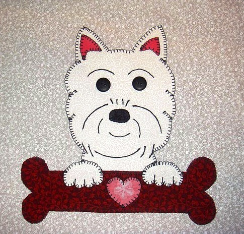 31 - West Highland Terrier with bone